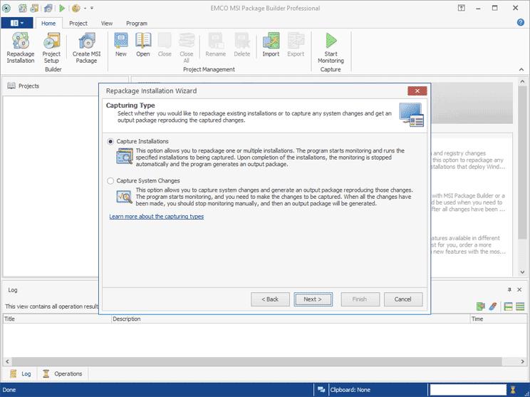 EMCO MSI Package Builder Professional screenshot