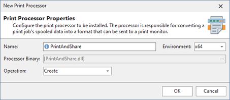 Adding a print processor