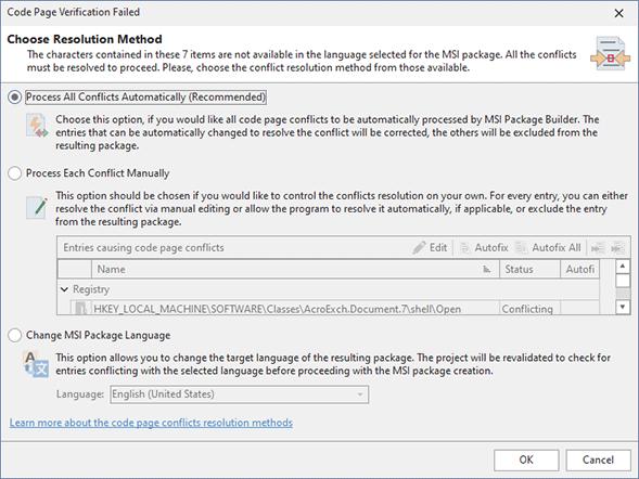 Code page verification failure