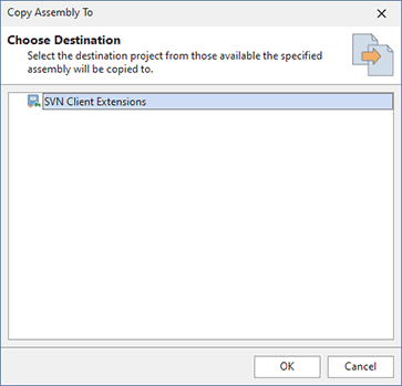 Copying assemblies between projects