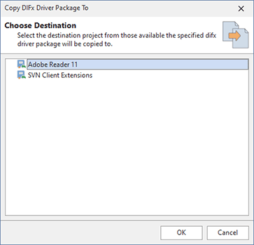 Copying driver deployment actions