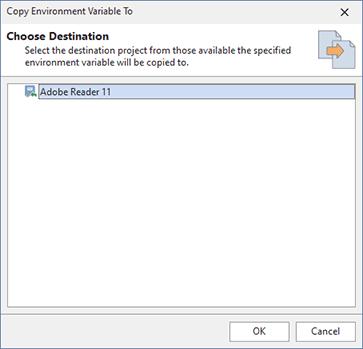 Copying environment variables modifications