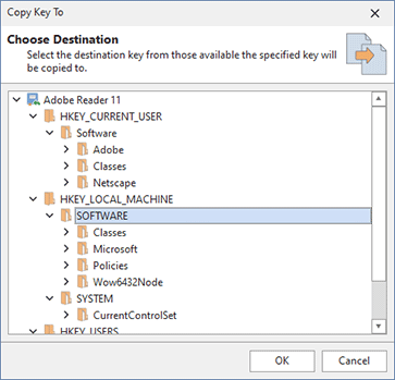 Copying registry modifications