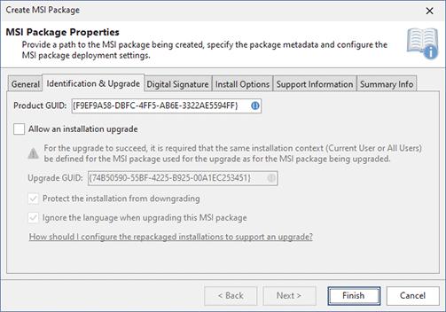 Creating MSI Package - MSI Package Builder