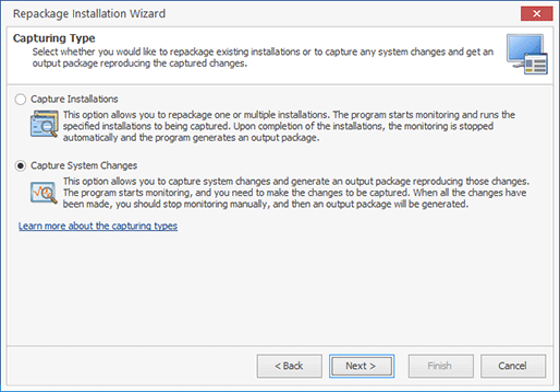 Select the Advanced Monitoring mode
