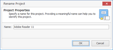 Renaming a project