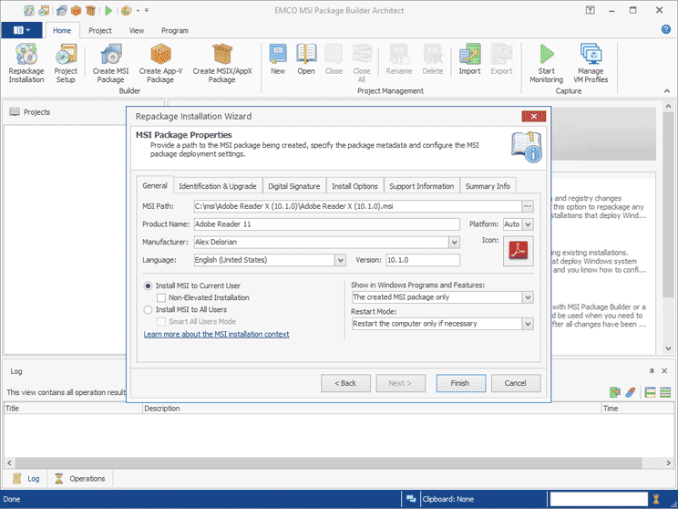 EXE to MSI Converter - Automatic Installation Repackaging