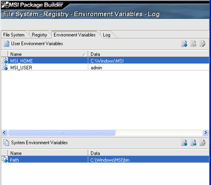Environment variables support in GUI