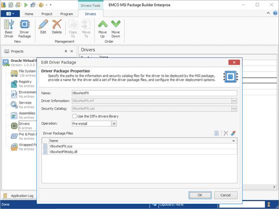 Repackaging of Windows drivers
