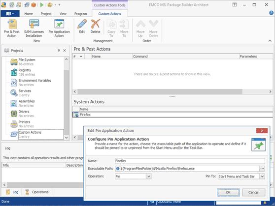 Monitoring of pin/unpin settings in Windows Task and Start Menu