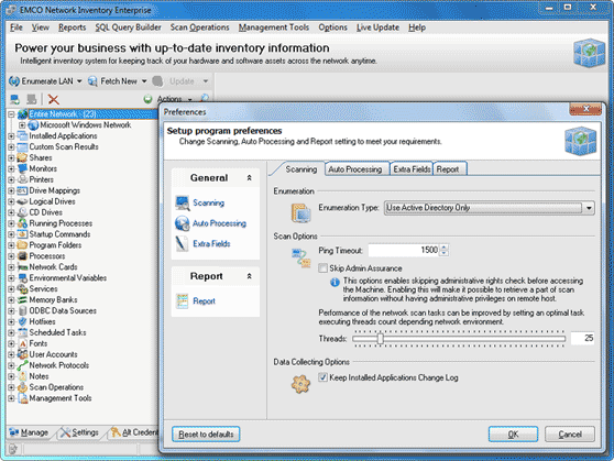 Active Directory scan