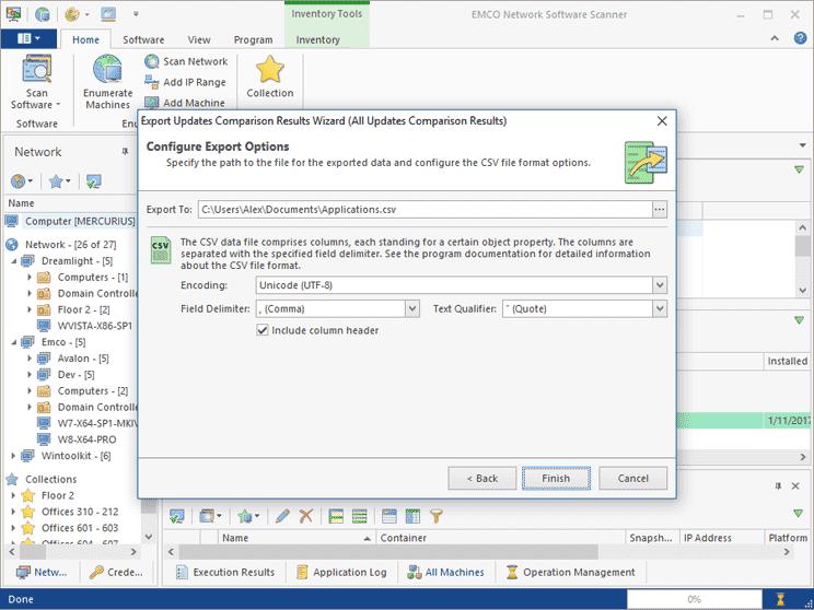 Applications Info Export
