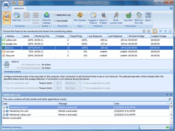 Multiple hosts monitoring