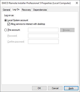 Configuring the remote service