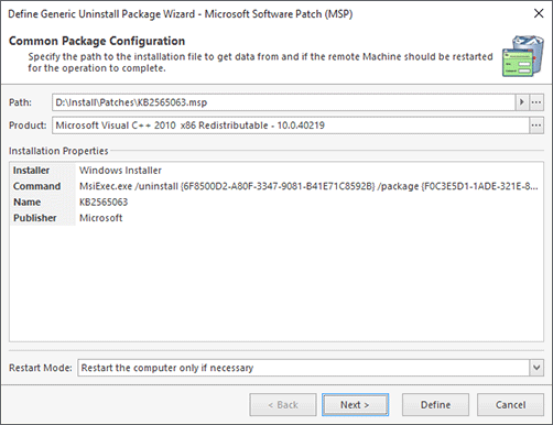 Microsoft Software Patch Configuration (Manual Configuration)