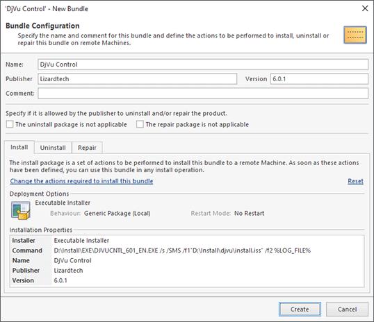 Configuring a software bundle