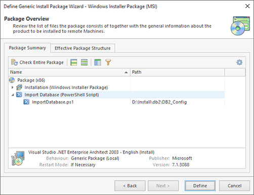 Package Summary for Windows Installer Package