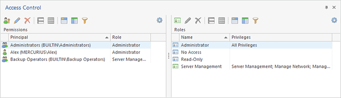 Configuring roles and permissions