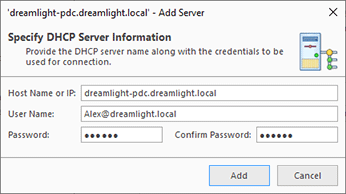 Providing the DHCP server information